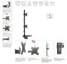 """G4RCE Vertical VESA TV Montior Desk Table Mount Stand Bracket Fits Upto 32"""" Inch"""