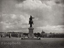 1927 Vintage FRANCE Paris Versailles Statue Louis XIV Architecture By HURLIMANN
