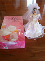 1996 Blushing orchid Bride Barbie Doll 3rd in The Wedding Flower Collection