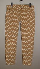 NWT 7 FOR ALL MANKIND CROPPED SKINNY TOFFEE IKAT PRINT STRETCH JEANS NEW SIZE 31