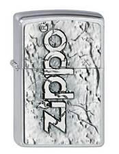 Zippo® Stone Stein 2002738 Heavy plate Chrome brushed Neu/ New OVP