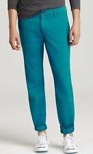 VINCE Classic Straight Leg Men's Twill Chino Pants Jeans Cerulean 33 Nwt $210
