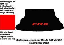 Kofferraum Teppich CRX Targa /Del Sol elekt. Dach Rot 103