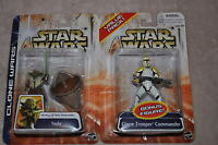 STAR WARS CLONE WARS VALUE PACK YODA & CLONE TROOPER COMMANDER 2 PACK MOSC