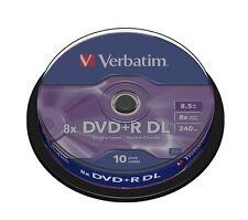 STOCK 50 PZ- DVD +R VERGINI VERBATIM DL DUAL LAYER XBOX