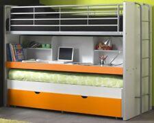 Etagenbett Bonny Kinderbett 3 Liegeflächen Bett Funktionsbett Hochbett Weiß/Oran