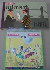 COURS D'ANGLAIS MÉTHODE VISAPHONE ET LIVRE INTERPRET 1959
