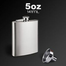 New 5 oz FLASK curved Polish Stainless Steel Screw Cap Hip Pocket Liquor Alcohol