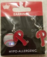 Philadelphia Phillies MLB Team Logo Licensed Dangle Style Earrings