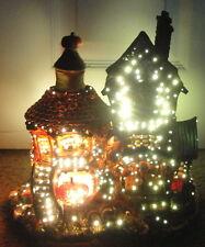 FIBER OPTIC HALLOWEEN HAUNTED HOUSE 2003 Target Ceramic Figure Lighted Electric