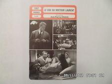 CARTE FICHE CINEMA 1957 LE CAS DU DOCTEUR LAURENT Jean Gabin Nicole Courcel