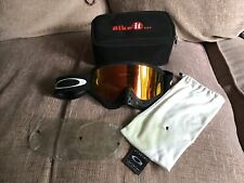 Oakley O Frame Goggles With Nose Guard & Extra Lenses & Storage Bags