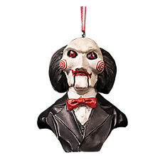 Jigsaw SAW Billy Puppet Serial Killer Home Collectible Halloween Decor Ornament