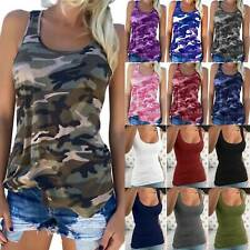 Women Sleeveless Strappy Camisole Vest Casual Gym Tank Tops Blouse Plus Size NEW