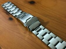SEIKO OYSTER FLAT LUGS 22MM STAINLESS STEEL MENS WATCH STRAP BAND BRACELET NEW