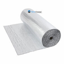 Double Foil Single Bubble Wrap Aluminum Insulation Roll 1.2m x 20m Attic Roof