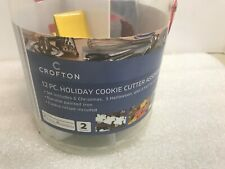 Cookie Cutters 12 Piece Holiday Crofton Set - Christmas, Halloween Thanksgiving
