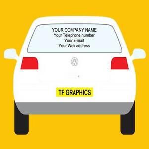 Personalised Buisness Rear Window Vinyl Decals, Corporate Company Advertising