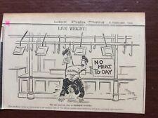 B9f Ephemera 1936 Original Cartoon Middleton Smithfield Market Strike