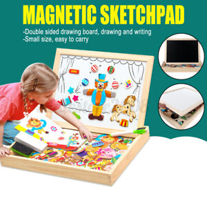 s Magnetic Drawing Board Wooden Toys Children Puzzles Educational Puzzle