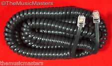 Black 25' ft Telephone Handset Receiver 4P4C Coil Cable Curly Cord Wire VWLTW