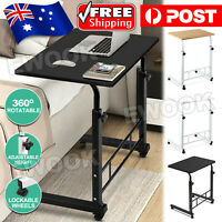 Laptop Desk Computer Table Stand Mobile Adjustable Portable Wooden Bed Office