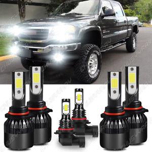 Para For GMC Sierra 1500 2500 HD 3500 2001-2005 2006 LED faro + luz antiniebla