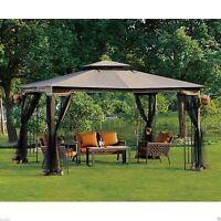 Outdoor Gazebo With Netting Canopy Backyard Pergola 10 x 12 Garden Patio Wedding