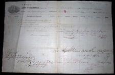 1862 PORT OF PHILADELPHIA MANUSCRIPT BARQUE IRMA CUBA CUSTOMS DUTIES BILL LADING