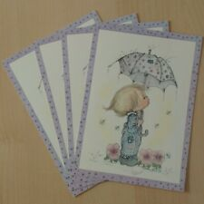 vtg Betsey Clark umbrella rainy day postcard lot Hallmark blank unused Betsy