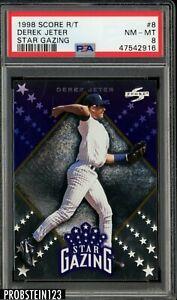 1998 Score Star Gazing #8 Derek Jeter Yankees HOF PSA 8 NM-MT