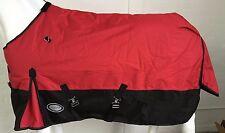 AXIOM 1200D RIPSTOP WATERPROOF RED/BLACK 220g HORSE RUG - 5' 9