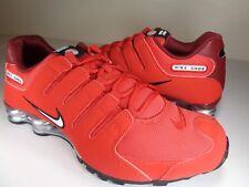 Nike Shox NZ University Red White Team Red SZ 8.5 (378341-601)