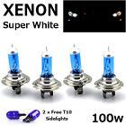 4 x H7 100W SUPER WHITE XENON UPGRADE HEADLIGHT BULBS SET 499 12V FULL/DIPPED A