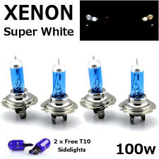 4 x H7 100W SUPER WHITE XENON UPGRADE HEADLIGHT BULBS SET 499 12V FULL/DIPPED A
