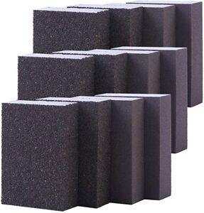 12 x Sanding Sponge Wet and Dry Sanding Block Coarse/Medium/Fine