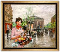 Francois Gerome Original Oil Painting On Canvas Paris French Female Portrait Art