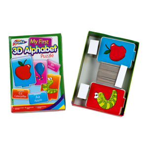 Grafix My First 3D Alphabet Puzzle for Toddlers Alphabet ABC Kids Childrens Toy