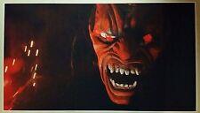 "RED DEMON GIANT WIDE 24"" x 42"" Poster Satan Devil Halloween Horror Man Cave Evil"