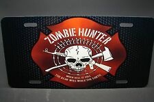 ZOMBIE HUNTER METAL NOVELTY LICENSE PLATE TAG FOR CARS  ZOMBIE RESPONSE TEAM