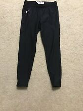 Girls Youth Xl Black Under Armour Ankle Length Workout Pants