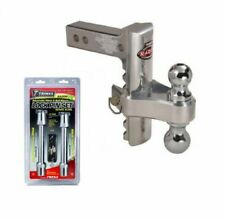 Trimax TRZ8AL 8 Premium Aluminum Adjustable Hitch with Dual Hitch Ball and T3 Receiver Lock /& Trimax TRZ52 Keyed Alike Adjustable Hitch Lock Set