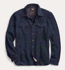 $595 RRL Ralph Lauren US Naval Inspired Wool Cashmere CPO Shirt-MEN- M