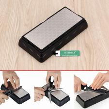 DMD Kitchen Double-sided Diamond Sharpening Whetstone Knife Sharpener with Base