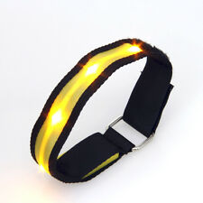 Sleek Yellow LED Flashing Safety Running Outdoor Sports Strap Band Reflective