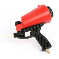 Air Sand Blaster Adjustment Handheld Flow Speed Gun 0.9 Ltr Sandblaster 90psi