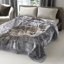 Animal Winter Wolf Bedding Mink Blanket Full Queen