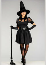 Adult Ladies Cute Black Bewitching Witch Costume