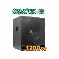 "SUBWOOFER AMPLIFICATO IN KTV 1200W serie pro WOOFER 46 CM (18"") art. 170826"