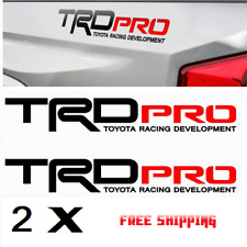 Trd Pro Racing Development Tacoma Tundra Bed Side Vinyl Decals Stickers